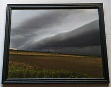 8 x 10 original landscape storm photography taken in Illinois in a black frame