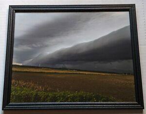 8 x 10 original landscape storm photography taken in Illinois in a black frame