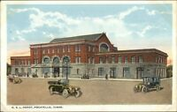 Pocatello ID OSL RR Train Depot Station c1920 Postcard