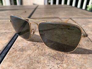 Vintage Bausch & Lomb Ray Ban Sun Glasses 12K GF 1/10 Aviator B&L