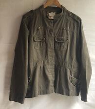 Prototype  Authentic Women's Plus Khaki Jacket 1X Brown