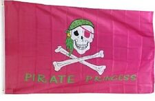 3x5 Jolly Roger Pirate Pink Princess Flag 3' x 5' house banner grommets