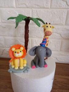 Edible jungle animal cake toppers