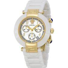 Versace Reve 95CCP1D497SC01 Chronograph White Ceramic Ladies Watch 95CC
