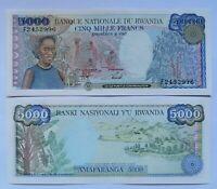 RUANDA RWANDA 5000 francos, emisión 01-01-1988, P-22a. Plancha UNC.