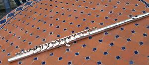 Flûte traversière NOBLET bel état, en état de fonctionnement maillechort argenté