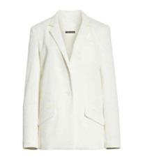 TRACY REESE Women's White Textured Stretch Blazer Size 1X
