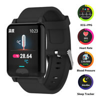 BT-Connect Smart Watch ECG PPG Heart Rate Blood Pressure Monitor Sport Bracelet