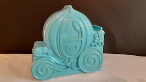 Vintage 1992 Disney's Cinderella Travel Play Set Blue Carriage Mattel w/ figure