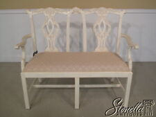 20354: English Chippendale style Paint Decorated Double Back Settee ~ New
