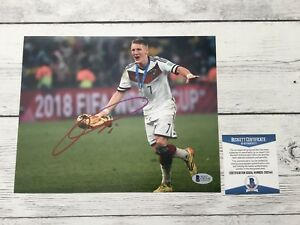 Bastian Schweinsteiger Signed Autographed Germany 8x10 Photo Beckett BAS COA b