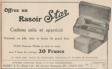 Y7317 Rasoir STAR - Nouveau Modèle - Pubblicità d'epoca - 1924 Old advertising