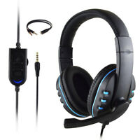 Gaming Headset Stereo Surround Headphone 3.5mm Wired Mic For PS4 Laptop Xbox one