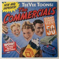 TEE VEE TOONS: THE COMMERCIALS ~ 1989 US 55-TRACK VINYL LP RECORD + LYRIC INNER