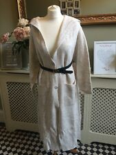 ZARA Ecru Wool Maxi Coat Jacket With Hood Size Medium BNWT