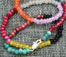 """2x4mm Faceted Brazil Multi-color Handmade Gemstone necklace 18"""" gift"""