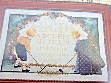 NIP CHILDRENS GARDEN CROSS STITCH BY BUTTERNUT ROAD 1992 MARILYN LEAVITT-IMBLUM