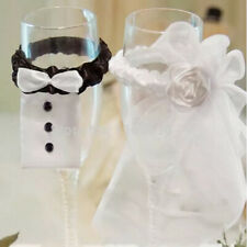 2pcs/Set Toasting Decoration Bride&Groom Party Wedding Mark Wine Glass Decor