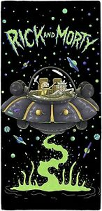 Rick And Morty UFO Beach Towel 100% Cotton Spaceship Character