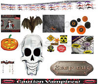 NEW HALLOWEEN PARTY DECORATION TABLEWARE ITEMS ROOM DECORATION VAMPIRES CAUTION