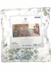 Simply Shabby Chic TWIN Shadow Blue Rose Floral Reversible Quilt 100%Cotton