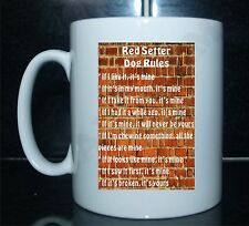 RED SETTER RULES Novelty Dog Printed Tea/Coffee Drink Mug Gift/Present