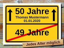 Geschenkidee 50. Geburtstag Bild Deko - Eigener Text Geburtstagsgeschenk