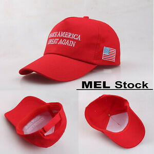 Make America Great Again Trump Hat Baseball Cap Embroidered Snapback Red