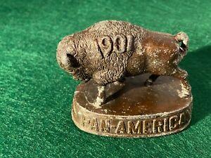 1901 Pan American Expo Buffalo NY - Souvenir Buffalo Paperweight