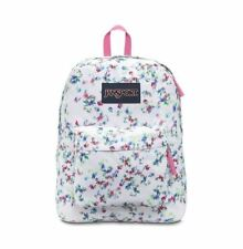 JanSport T501 SuperBreak Backpacks Multi White Floral Haze Brand New With Tags