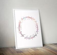 Señor de los anillos, grabado, cartel, foto, cotización, Pared Arte, Regalo, Decoración del hogar