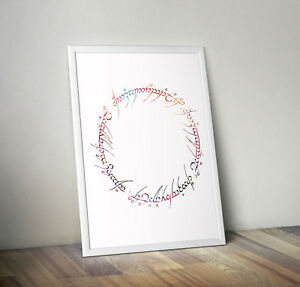 Lord of the rings, print, poster, picture, quote, wall art, gift, home decor