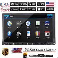 """7""""Double 2DIN Stereo Car CD DVD Player GPS Navi Ipod FM Touch Screen Radio+Cam"""