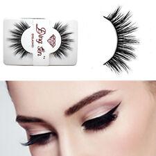 1 Pairs Cross Mink Black Handmade Thick Makeup Fake Eyelashes Natural Long