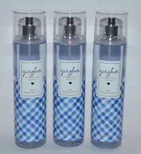 LOT OF 3 BATH & BODY WORKS BLUE GINGHAM FINE FRAGRANCE MIST BODY SPRAY 8OZ LARGE