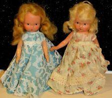 "Pair of Nancy Ann Storybook Doll Blondes Bisque w/Frozen Legs 5.5"" Lovely"