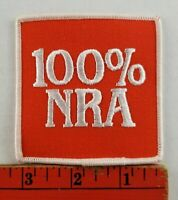 Vintage 100% NRA National Rifle Association Shooting Hunting Patch