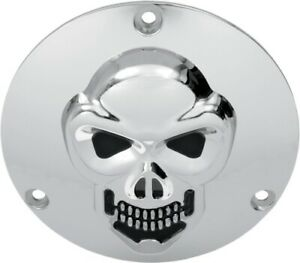 Drag Specialties 1902-0062 3-D Skull Derby Cover Chrome 33-0061-PC 1902-0062