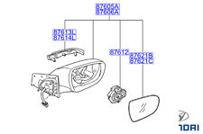 Genuine Hyundai i40 2011-2015 Wing Mirror RH Driver w/ Indicator - 876203Z130