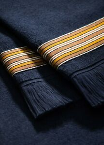 "LORO PIANA 475$ Navy Blue ""The Suitcase Stripe"" Beach Towel"