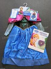 FROZEN Princess Anna Dress Up Costume Sz 4 - 6 & Heart Necklace Activity Book