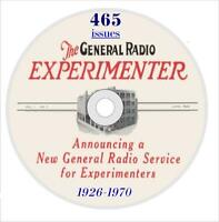465 Issues of General Radio Experimenter Magazine, 1926-1970, on CD-ROM