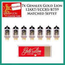 New 7x Genalex Gold Lion 12AX7 / ECC83 | Matched Septet / Seven Tubes