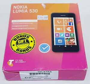 Telstra locked Nokia Lumia 530 RM-1018 4GB SOLD AS IS/Crack Screen/Faulty touch