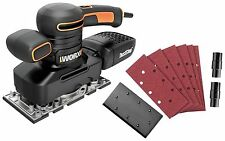 Worx WX641 Electric 1/3 Sheet Finishing Sander Power Tool plus Sand Papers New