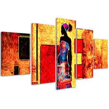 Quadri Moderni 200 x 90 cm Stampe su Tela XXL Arredamento Moderno Etnico #027