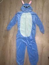 Adult Animal One Piece Jumpsuit Blue Lilo Stitch Costume Pyjamas Fur Size S/M