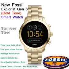 NEW Fossil  Q Luxury Gen 3 Explorist Men's Stainless Steel Smartwatch Gold-Tone