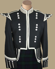 Black Drummer Military Doublet by Scottish Kilt| Made To Measure