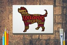 More details for cockerpoo word art canvas a4 a3 a2 a1 mothers day gift personalised option